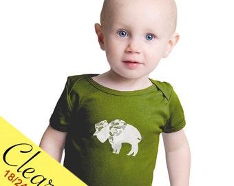 Clearance Baby Infant One Piece Bodysuit Vet Camouflage Buffalo Olive