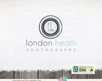 Premade logo Lens with initials Photographer Logo Photography Logo Design Name Text Logo