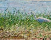 Egret Study (original oil painting)