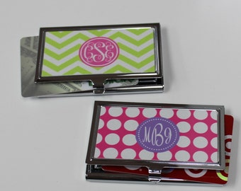 Gift Card Holder - Personalized card holder - Monogrammed custom business card holder