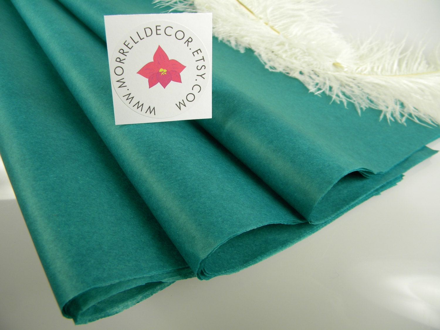Wedding Gift Wrapping: Tissue Paper Teal 24 Sheets Wedding Gift Wrap Idea Craft