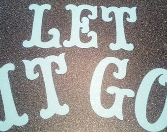 Sparkle Letters for a Frozen Let it Go Letters for Banner 5 inches