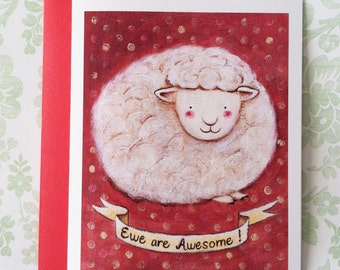 Ewe are Awesome! Card by Megumi Lemons