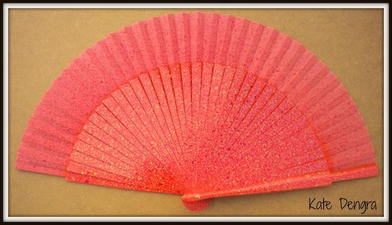 Orange Cream Ruby Hand Fan