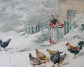 Antique Christmas postcards early 1900s