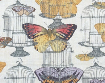 Butterflies Fabric,  Birdcages Fabric, Butterfly Revolution, Fancy Free,  Susan Winget, By the Yard