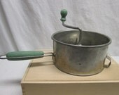 Vintage Foley Food Mill Green Wooden Handles