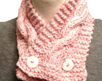 Knitted Scarf Headband  Neck Warmer Scarflette  All Ready to Ship