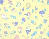 Baby Talk Yellow Alphabet Flannel Fabric, by Cheri Strole, for Moda Fabrics, 100 Percent Cotton, 1 yard cut