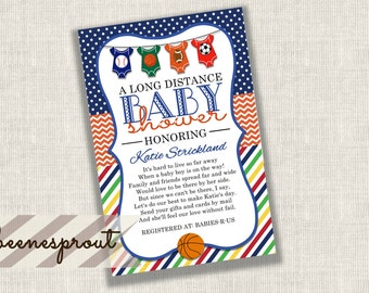 long distance baby shower invitations  etsy, Baby shower invitations