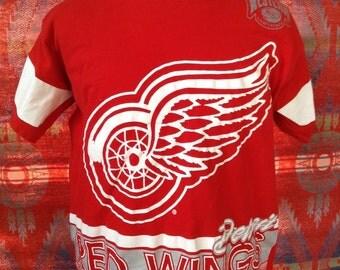 1990 NHL Detroit Red Wings t shirt USA L
