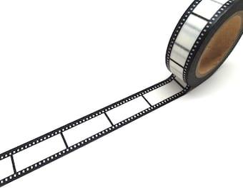 Black and White Film Washi Tape - Black and White Washi Tape - Photo Packaging
