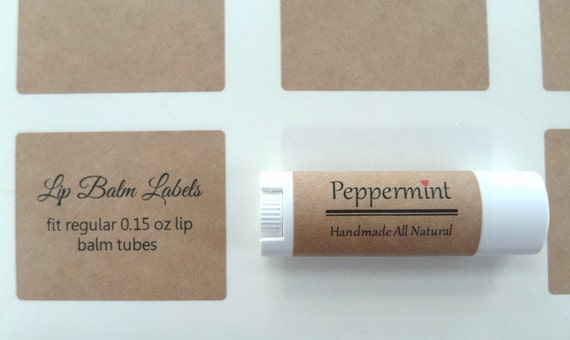 Kraft lip balm label kraft label x from for 2 125 x 1 6875 label template