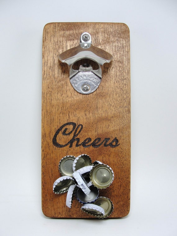 Wall mount bottle opener stainless steel magnet by scrapwoodstudio - Bottle opener wall mount magnet ...