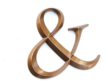 Bronze Ampersand Sign - Large Wall Ampersand - Wedding Decor - Gallery Wall Decor - Photo Prop - Anniversary Gift AND09