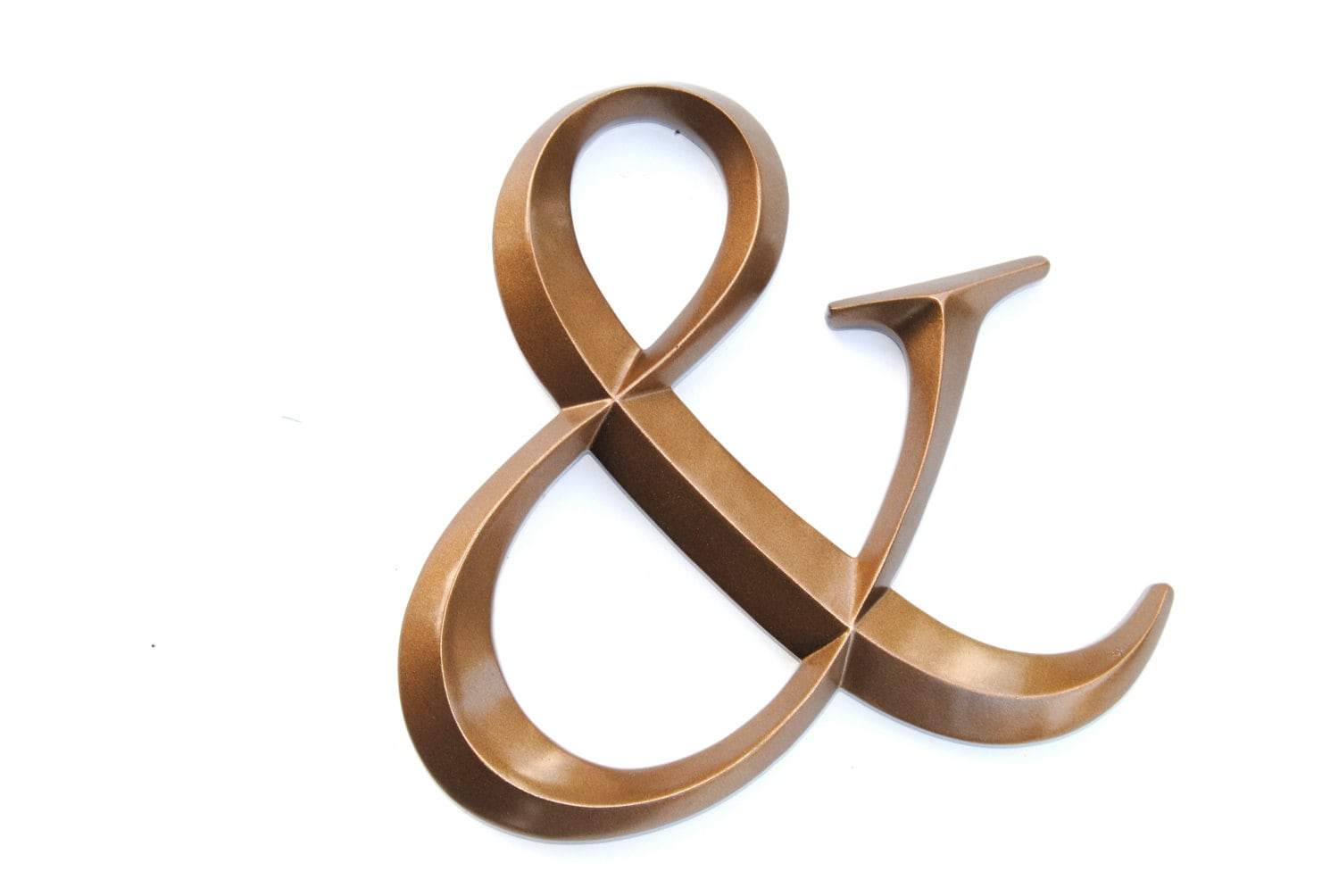 Bronze ampersand sign large wall ampersand wedding decor for Ampersand decor