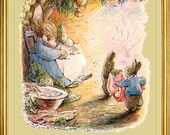 BENJAMIN BUNNY  Fine Art Print - Vintage Beatrix Potter Reproduction