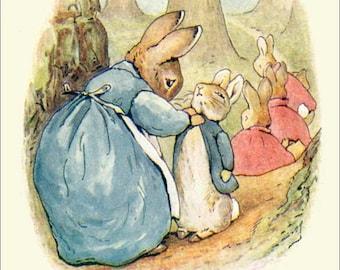 PETER RABBIT Art Card - Vintage Beatrix Potter Reproduction