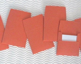36+ teeny tiny envelope note card sets handmade arizona coral terra cotta orange mini miniature square party favor wedding guest book