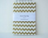 Gold Chevron bags, Gold paper bags, Gold favour bags,