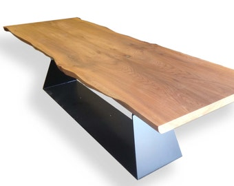Banqueting Table - English Elm - Steel Base