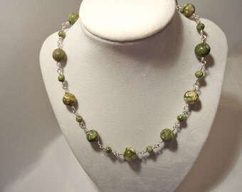 Rhyolite Wire Wrapped Necklace