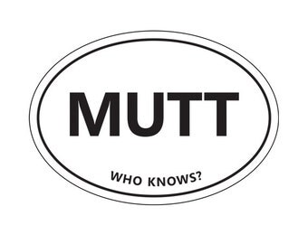 MUTT sticker