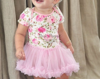 floral tutu dress, girls tutu dress, baby tutu outfit, tutu, pink tutu, baby tutu, birthday outfit, girls outfit, baby outfit , pink, baby