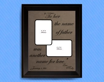 Father of the Bride Gift, Personalized Picture Frame, Father Daughter Frame, Father of the Bride, Love Quotes, Father of the Bride Frame
