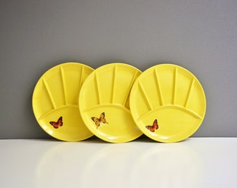 Vintage Ceramic Butterfly Plates