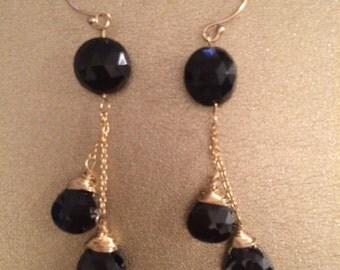 Gemstone Dangling Earrings
