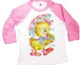 Baseball style raglan tee shirt childrens...Easter Chic