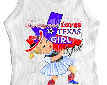 "tank, tshirt tee shirt one piece childrens tshirt "".Everyone Love a Texas Girl"" a girly shirt"