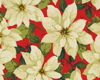 Poinsettia & Holly by Martha Negley - Poinsettia in Red