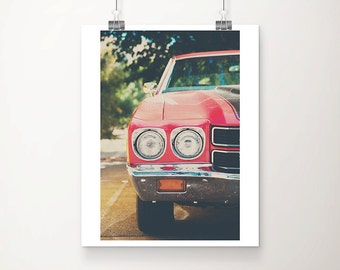red Chevrolet photograph Chevrolet Chenille photograph vintage Chevrolet print vintage car photograph vintage car print