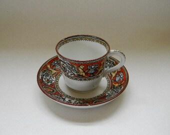 Antique, 1862, M K Co. FLORENTINE Demitasse Cup and Saucer