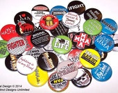"MMA Fighter Set of 10 Buttons 1"" or 1.5"" Pin Back Buttons or 1"" Magnets Cage Fighting Mixed Martial Arts MMA Fan"