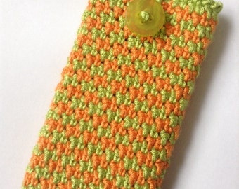 Iphone case sleeve - Ipod Touch case sleeve, handmade crochet