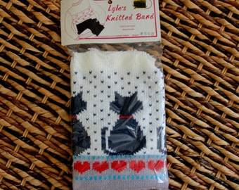 1980s Knitted Band Cats Sweaters Sweatershirts Embellishment Hearts Craft Kittens DIY Add On NIP