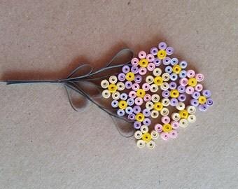 Pastel Flower Quilled Cluster Embellishment