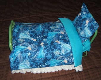 Frozen inspired or Hello Kitty Doll Bed Comforter with Pillow