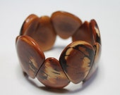 Brown Tagua-Drops Bracelet