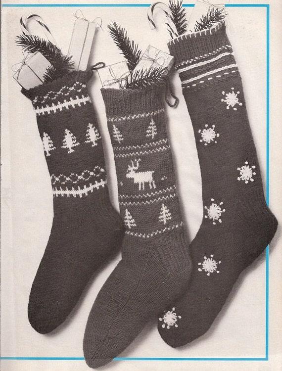 Knit Scandinavian Christmas Stocking by VeryMaryKnitCrochet