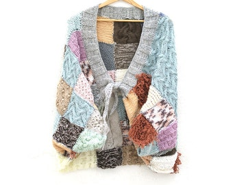 Chunky Hand- Knitted Jacket.