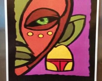 Amethyst African Mask