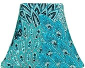 Turquoise Peacock - SLIP COVERS for lampshades