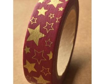 Gold Star Washi Tape (10M)