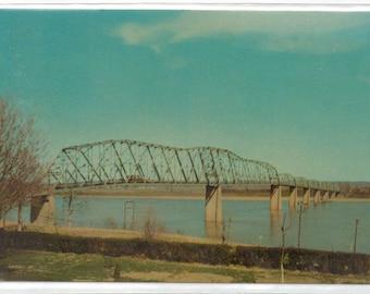 "Missouri, Postcard, "" Mississippi River Free Bridge, Cape Girardeau Mo.,""  1960s,  #430-2."