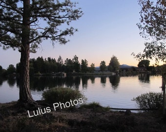 Sunset on the Lake, Landscape Photography, Prints and Personalized Cards