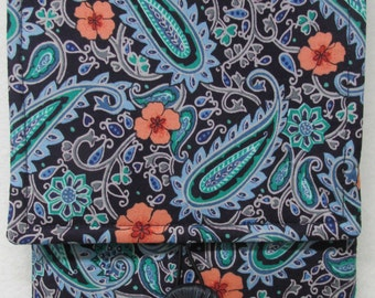 Fabric Cover for Kindle and Other E-Readers (Paisley-Turquoise)